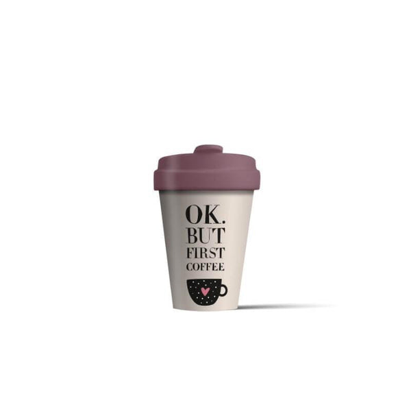 BambooCup 'Ok. But First Coffee' Travel Mug - 400ml