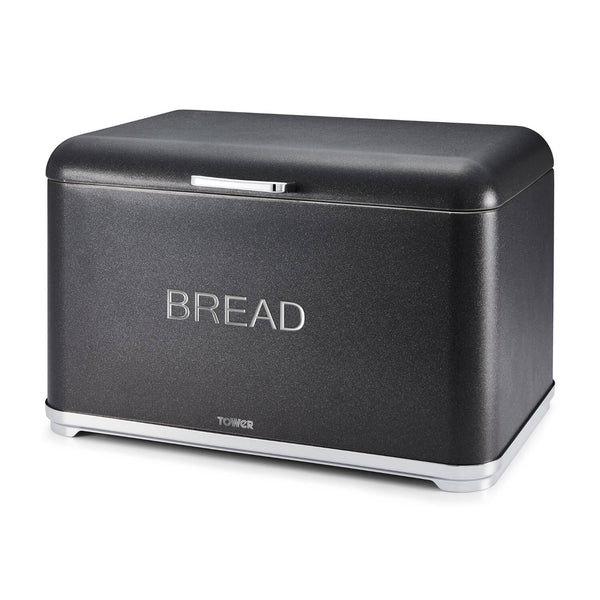 Tower Glitz Bread Bin - Noir