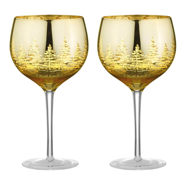 Artland Alpine Gin Glasses Gold - Set of 2