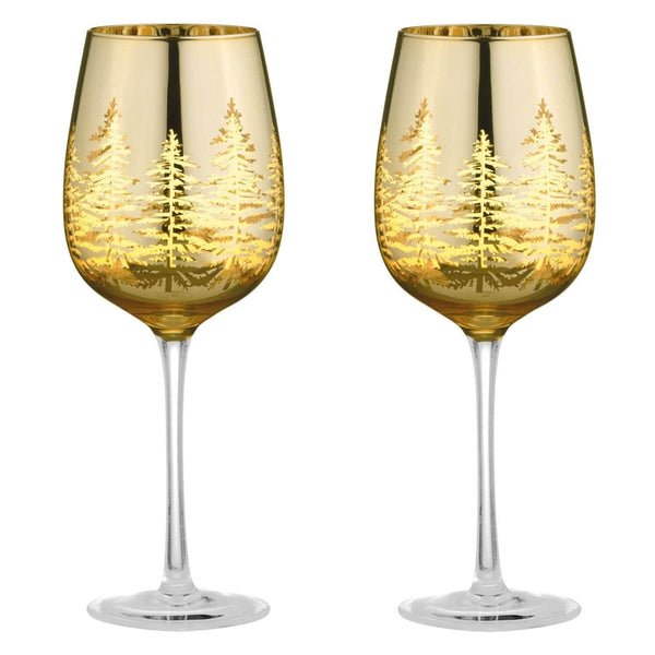 Artland Alpine Wine Glasses Gold - Set of 2