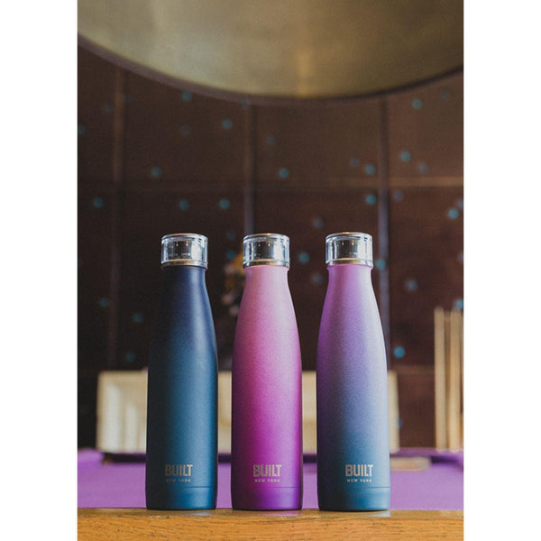 Built Double Walled Drinks Bottle 500ml - Pink & Purple Ombre