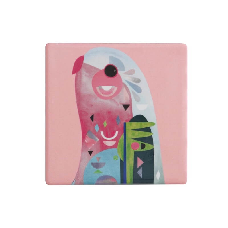 Maxwell & Williams Pete Cromer Square Ceramic Coaster - Parrot