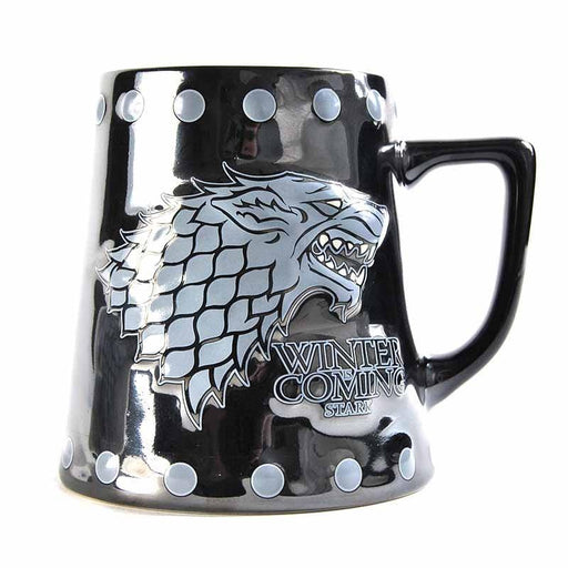 MUGTDGT05 Game of Thrones Stark and Stud Relief Tankard Mug - Front
