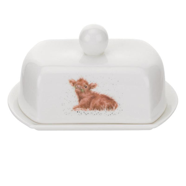 Royal Worcester Wrendale Butter Dish - Calf