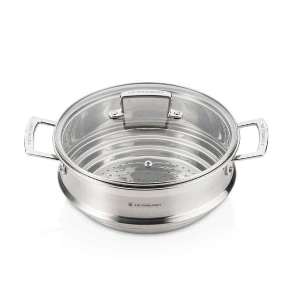 Le Creuset 3 Ply Stainless Steel Large Multi Steamer With Glass Lid