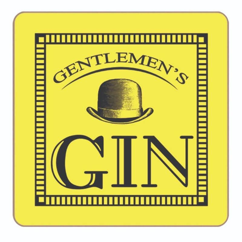 Gentlemens Gin Coaster - Yellow