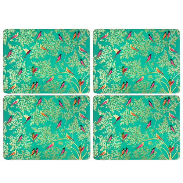 Sara Miller London Chelsea Green Birds Placemats - Set of 6