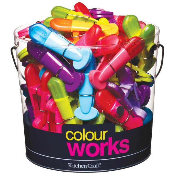 Colourworks Magnetic Bag Clips - Assorted