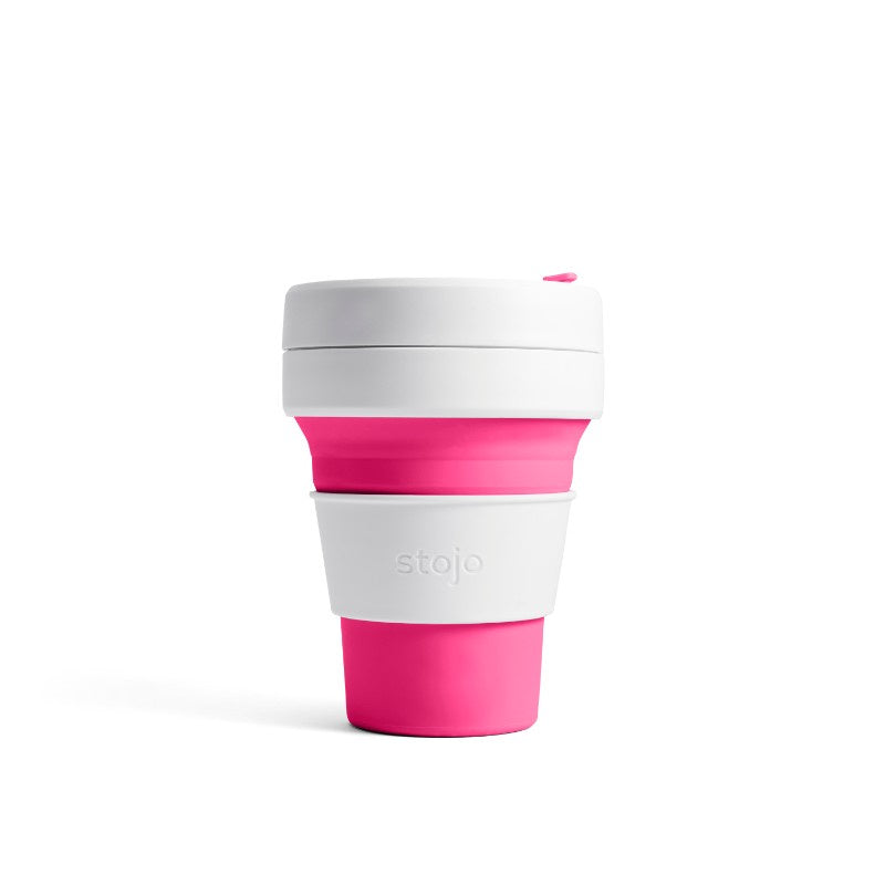 Stojo Pocket 12oz Collapsible Cup - Pink