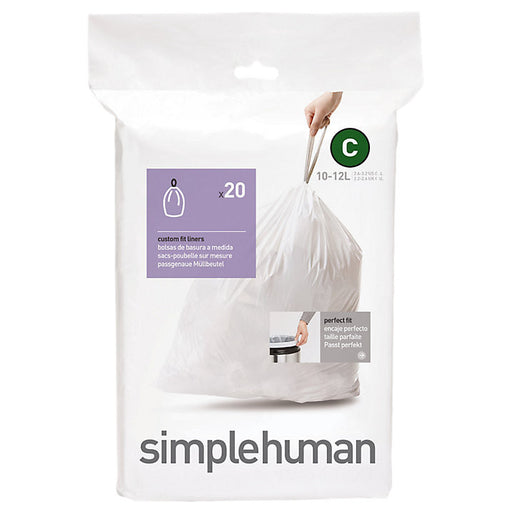 Simplehuman Code C Sure-Fit Bin Liners - Pack of 20