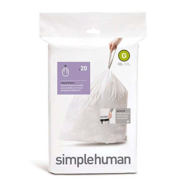 Simplehuman Code G Custom Fit Bin Liners - Pack of 20