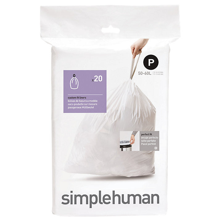 Simplehuman Code P Custom Fit Bin Liners - Pack of 20