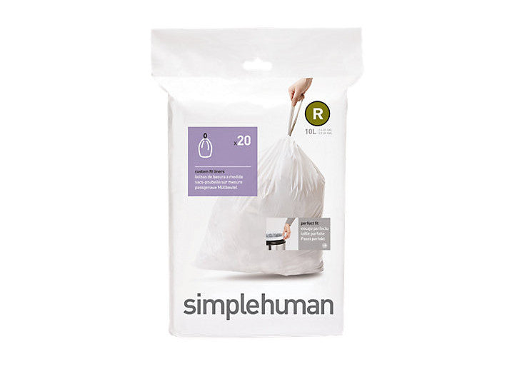 Simplehuman Code R Custom Fit Bin Liners - Pack of 20