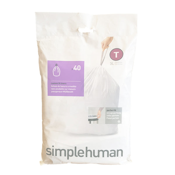 Simplehuman Code T Custom Fit Bin Liners - Pack of 40