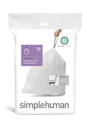 Simplehuman Code U Custom Fit Bin Liners - Pack of 20