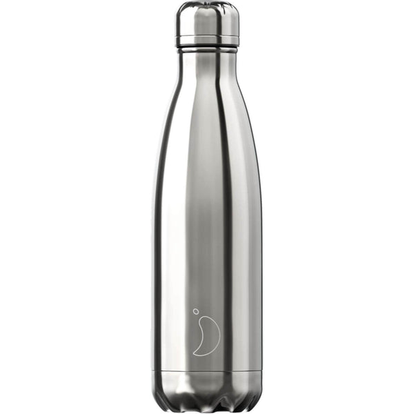 Chilly's 500ml Chrome Drinks Bottle - Silver