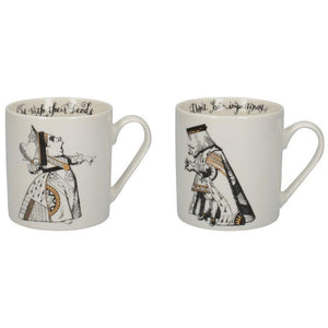 C000047 Victoria And Albert Alice in Wonderland His And Hers Mug Set