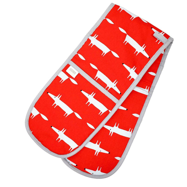 Scion Living Mr Fox Double Oven Gloves - Red