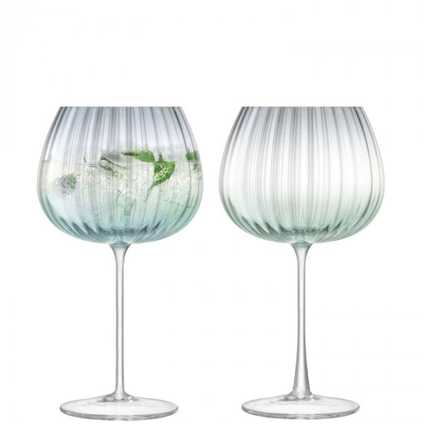 LSA Dusk Green & Grey Balloon Goblets - Set of 2