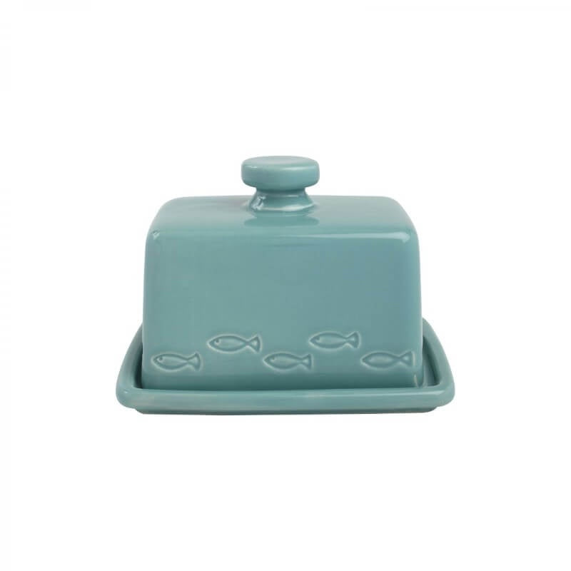 T&G Ocean Ceramic Butter Dish - Blue