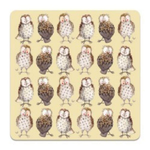 Alex Clark Coaster - Owls