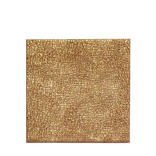 iStyle Faux Leather Gold Coasters - Set of 4