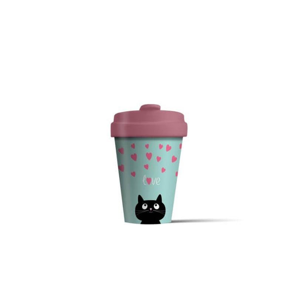 BambooCup 'Kitty Love' Travel Mug - 400ml