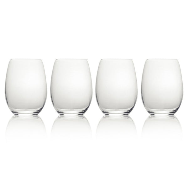 5193458 Mikasa Julie Set of 4 Stemless Wine Glasses