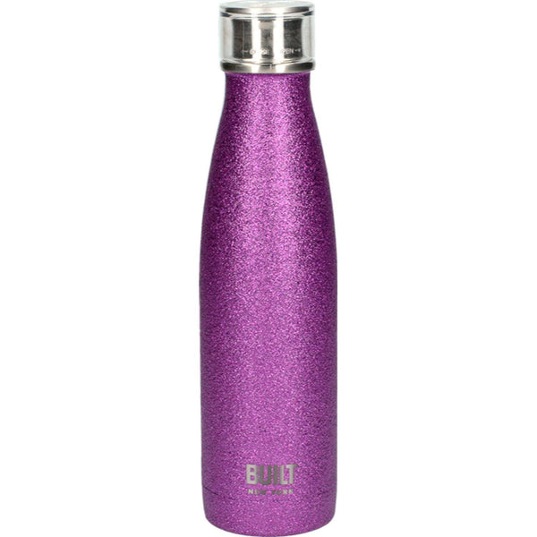 Built 17oz Double Walled Drinks Bottle - Purple Glitter