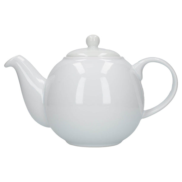 London Pottery Globe 6 Cup Teapot - White