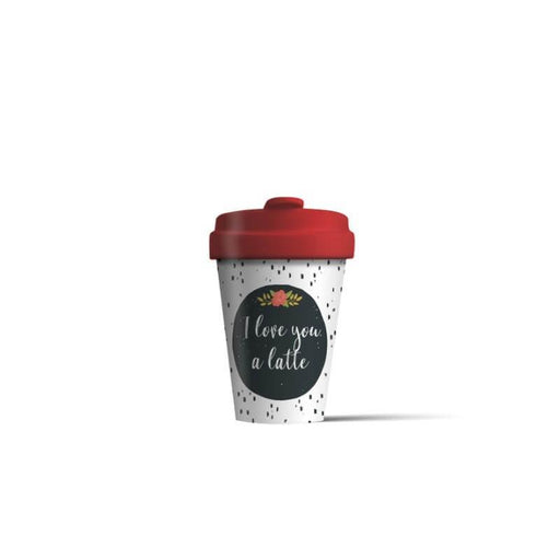 BambooCup 'Love You Latte' Travel Mug - 400ml