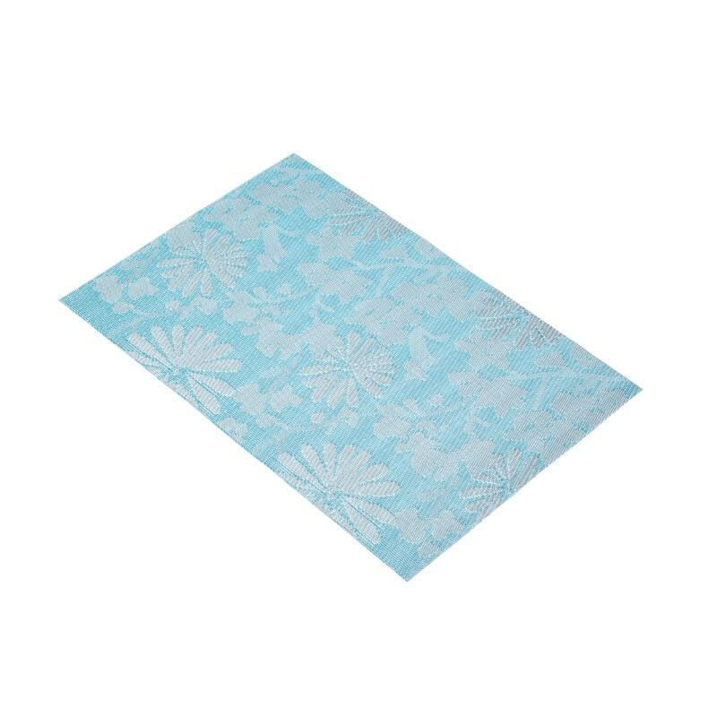 KitchenCraft Woven Placemat - Blue Flower