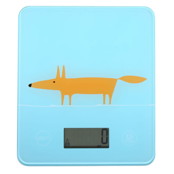 Scion Living Mr Fox Electronic Kitchen Scales - Blue