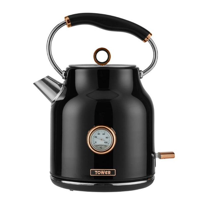 Tower Bottega Rose Gold 1.7 Litre Kettle - Black