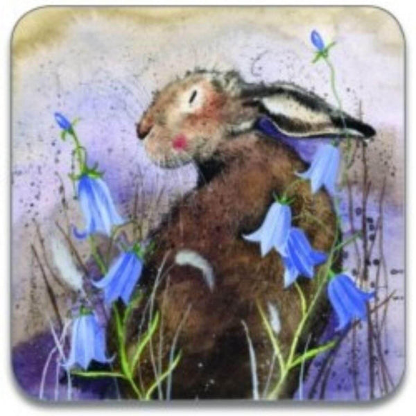 Alex Clark Coaster - Hare & Bluebell