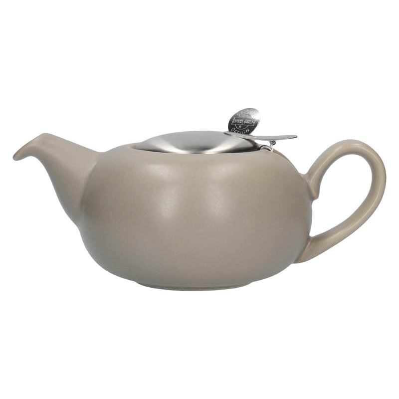 London Pottery Pebble Filter 2 Cup Teapot - Matt Putty