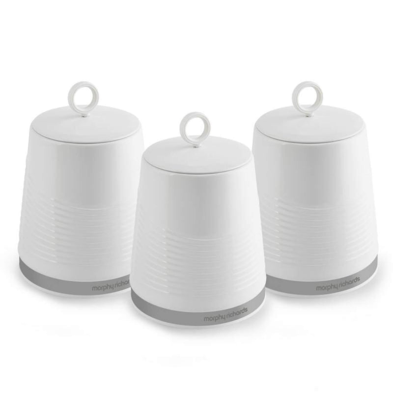 Morphy Richards Dune 3 Piece Storage Canister Set - White