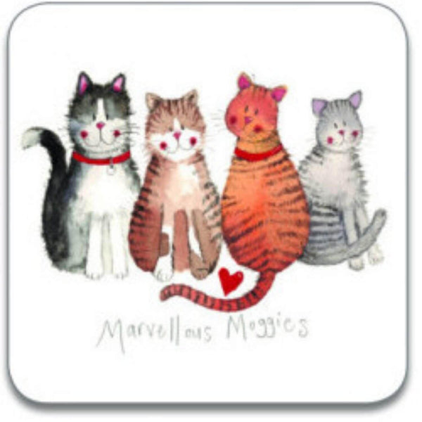 Alex Clark Coaster - Marvellous Moggies