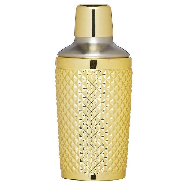 Barcraft Tropical Chic Gold Cocktail Shaker - 400ml
