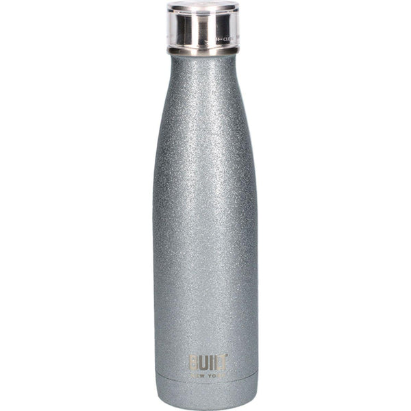 Built Double Walled Drinks Bottle 500ml - Silver Glitter
