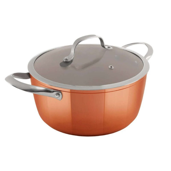 T800015 Tower Forged Aluminium 24cm Copper Casserole Dish