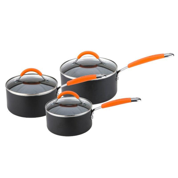 11658 Joe Wicks Aluminium Non-Stick 3 Piece Saucepan Set - Main
