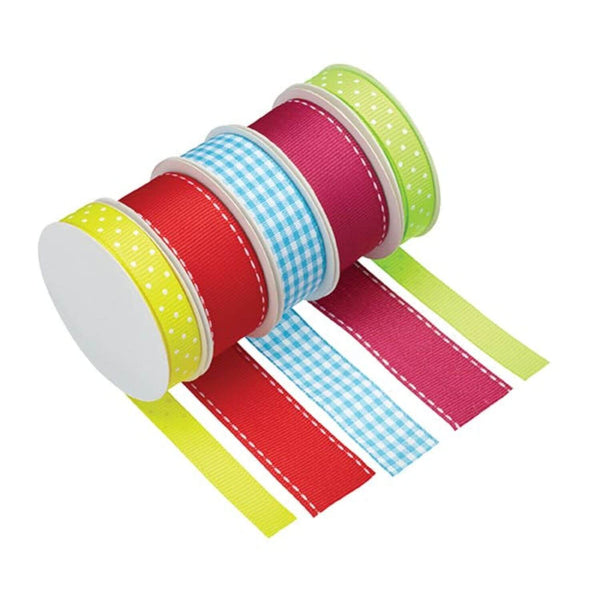 Sweetly Does It Bright Ribbons - Pack of 5