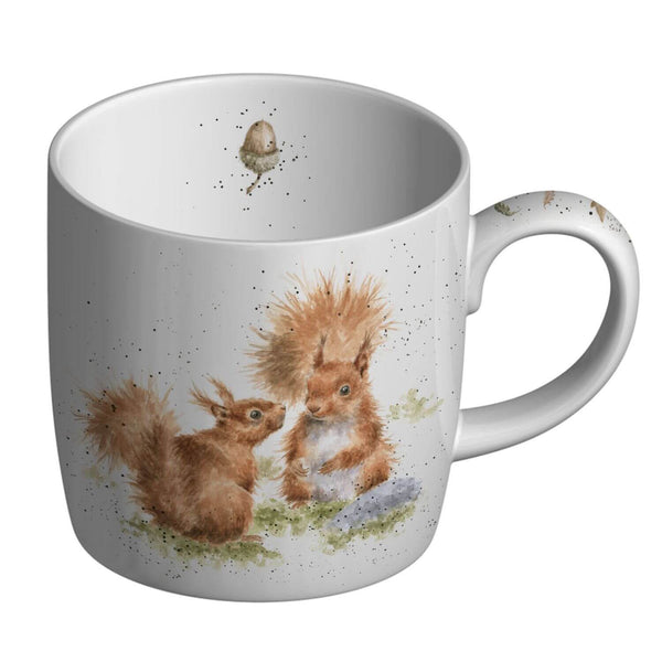 Royal Worcester Wrendale China Mug - Between Friends Squirrel