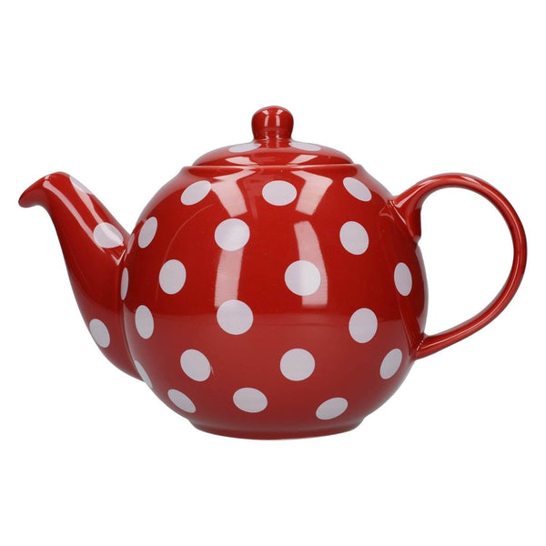 London Pottery Globe Red With White Spots Teapot - 6 Cup