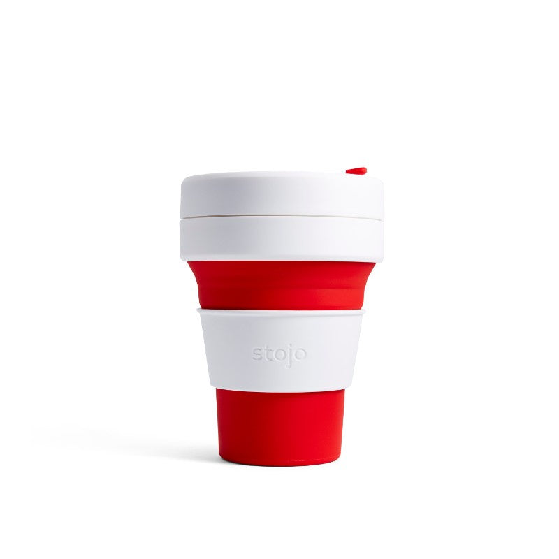 Stojo Pocket 12oz Collapsible Cup - Red