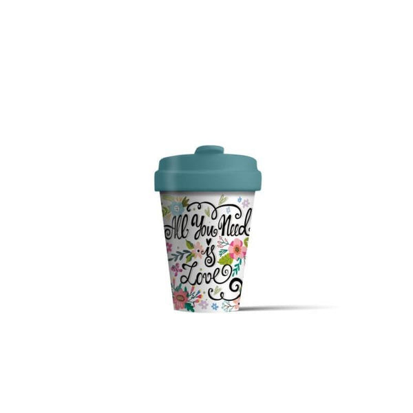 BambooCup 'All You Need Is Love' Travel Mug - 400ml