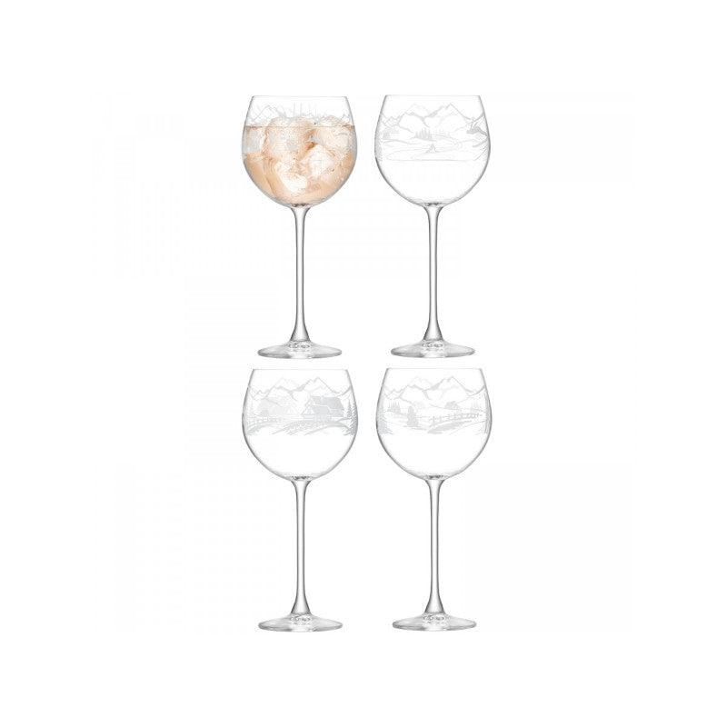 LSA Alpine 525ml Balloon Glasses Set of 4