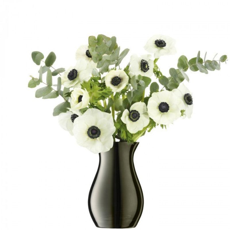 LSA Flower Posy Vase - Metallic Platinum