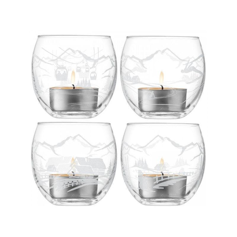 LSA Alpine 6.5cm Tealight Holder Set of 4